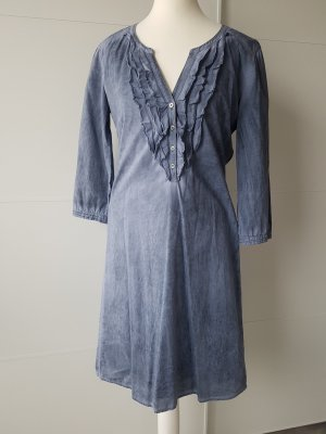 Marc O'Polo Robe chemisier gris ardoise-bleu azur