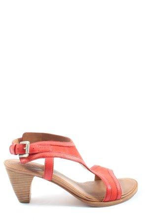 Marc O'Polo Sandales confort rouge style décontracté