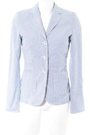 Marc O'Polo Kurz-Blazer blau-weiß Streifenmuster Business-Look