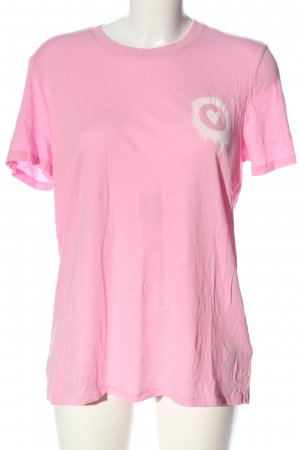 Marc O'Polo Kurzarm-Bluse pink Motivdruck Casual-Look