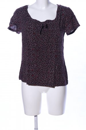 Marc O'Polo Kurzarm-Bluse Allover-Druck Casual-Look