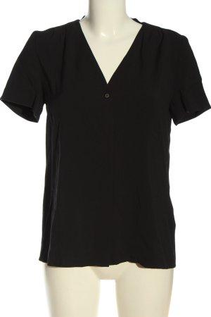 Marc O'Polo Kurzarm-Bluse schwarz Casual-Look