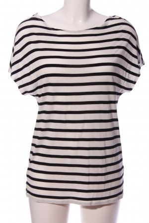 Marc O'Polo T-Shirt white-black striped pattern casual look