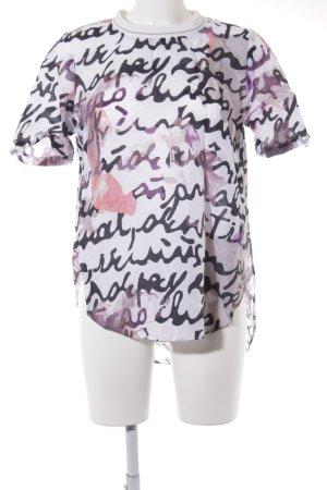 Marc O'Polo Kurzarm-Bluse abstraktes Muster Casual-Look