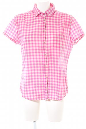 Marc O'Polo Kurzarm-Bluse pink-weiß Allover-Druck Casual-Look