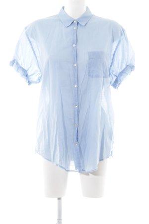 Marc O'Polo Kurzarm-Bluse blau Business-Look