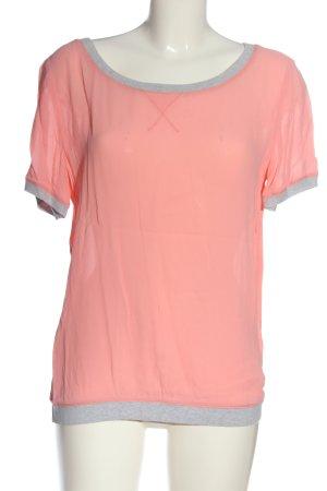 Marc O'Polo Kurzarm-Bluse pink-hellgrau meliert Casual-Look