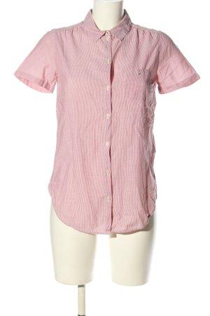 Marc O'Polo Kurzarm-Bluse pink Streifenmuster Casual-Look