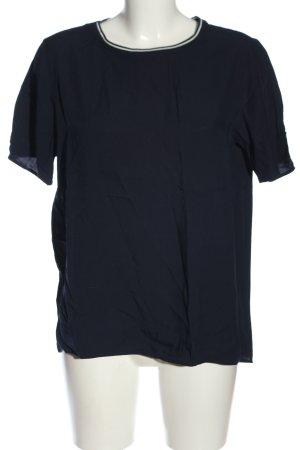 Marc O'Polo Kurzarm-Bluse blau-weiß Casual-Look
