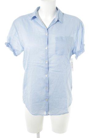 Marc O'Polo Kurzarm-Bluse himmelblau Casual-Look
