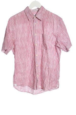 Marc O'Polo Kurzarmhemd rot-weiß Streifenmuster Casual-Look