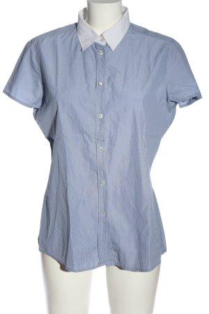 Marc O'Polo Kurzarmhemd blau-weiß Streifenmuster Business-Look