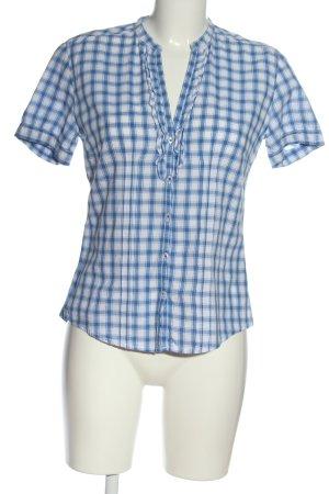 Marc O'Polo Kurzarmhemd blau-weiß Karomuster Casual-Look