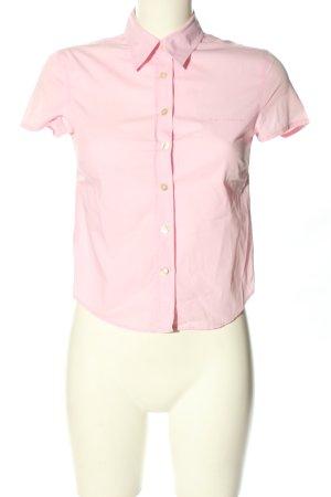 Marc O'Polo Kurzarmhemd pink Schriftzug gestickt Business-Look