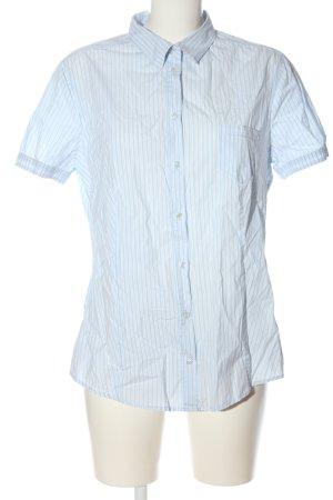 Marc O'Polo Kurzarmhemd weiß-blau Allover-Druck Business-Look