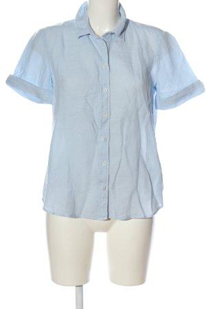 Marc O'Polo Camisa de manga corta azul look casual