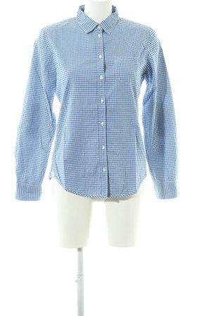 Marc O'Polo Kurzarmhemd blau-weiß Karomuster Business-Look