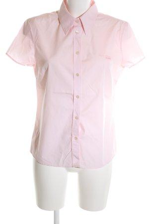 Marc O'Polo Kurzarmhemd pink Schriftzug gestickt Casual-Look