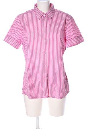 Marc O'Polo Kurzarmhemd pink-weiß Streifenmuster Casual-Look