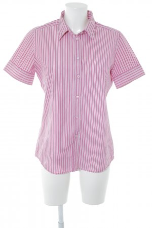 Marc O'Polo Kurzarmhemd pink-weiß Streifenmuster Casual-Look