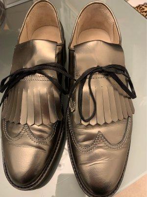 Marc O Polo Lack Leder Schuhe in Schlamm Farbe