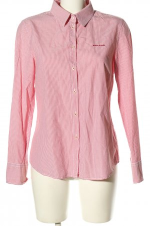 Marc O'Polo Langarm-Bluse rot-weiß Allover-Druck Business-Look
