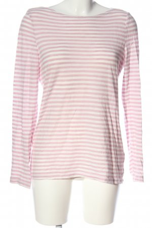 Marc O'Polo Langarm-Bluse pink-weiß Streifenmuster Casual-Look