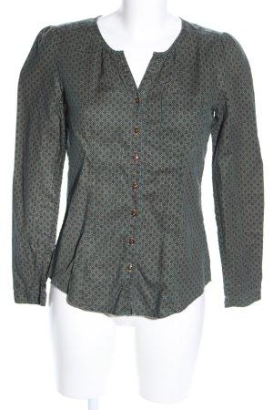 Marc O'Polo Langarm-Bluse khaki-hellgrau Allover-Druck Business-Look