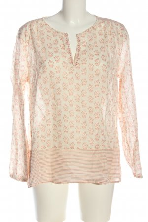 Marc O'Polo Long Sleeve Blouse white-nude abstract pattern business style