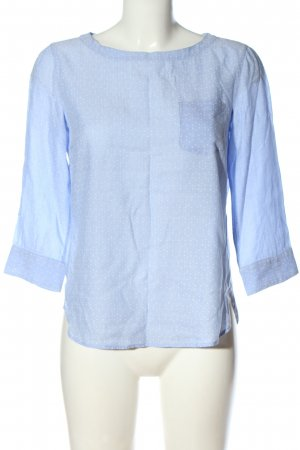 Marc O'Polo Langarm-Bluse blau-weiß Punktemuster Casual-Look