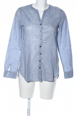 Marc O'Polo Langarm-Bluse blau abstraktes Muster Casual-Look