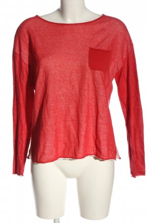 Marc O'Polo Langarm-Bluse rot Casual-Look