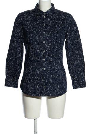 Marc O'Polo Langarm-Bluse blau-weiß Punktemuster Elegant
