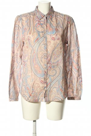 Marc O'Polo Langarm-Bluse abstraktes Muster Casual-Look