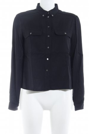 Marc O'Polo Langarm-Bluse schwarz Casual-Look