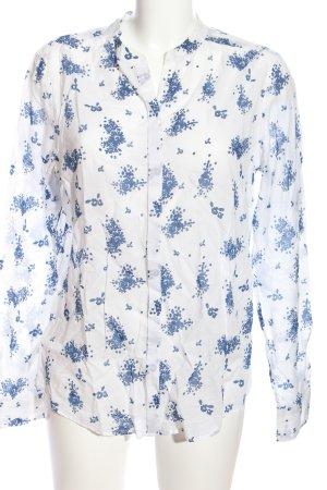 Marc O'Polo Langarmhemd weiß-blau Allover-Druck Casual-Look