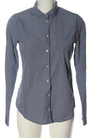 Marc O'Polo Camicia a maniche lunghe blu-bianco stampa integrale