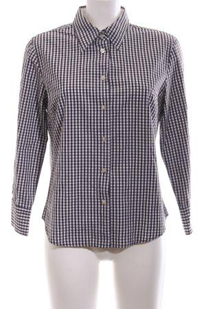 Marc O'Polo Langarmhemd schwarz-weiß Karomuster Business-Look