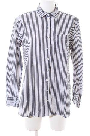 Marc O'Polo Langarmhemd schwarz-weiß Streifenmuster Business-Look