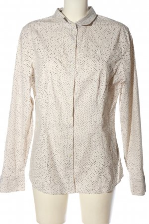 Marc O'Polo Langarmhemd creme-schwarz Punktemuster Casual-Look