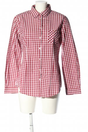Marc O'Polo Langarmhemd rot-weiß Karomuster Casual-Look