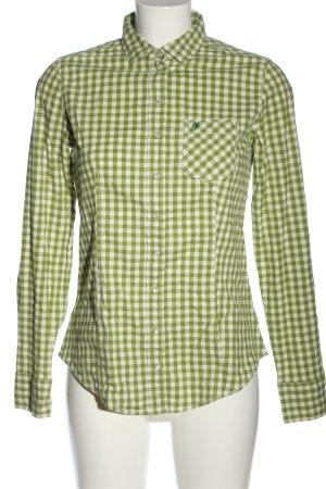 Marc O'Polo Chemise à manches longues vert-blanc motif à carreaux