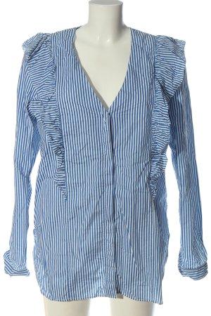 Marc O'Polo Langarmhemd weiß-blau Elegant