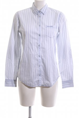 Marc O'Polo Langarmhemd weiß-blau Streifenmuster Business-Look