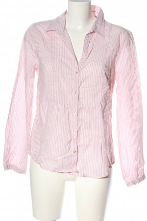 Marc O'Polo Langarmhemd pink-weiß Allover-Druck Casual-Look