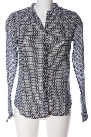Marc O'Polo Langarmhemd schwarz-weiß Allover-Druck Casual-Look