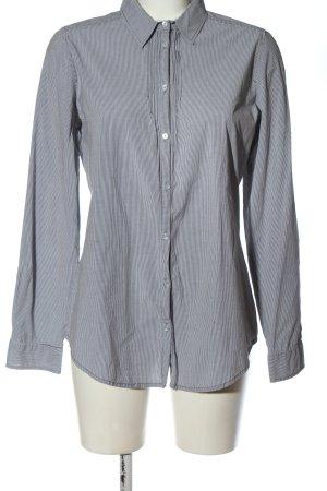 Marc O'Polo Langarmhemd schwarz-weiß Streifenmuster Casual-Look