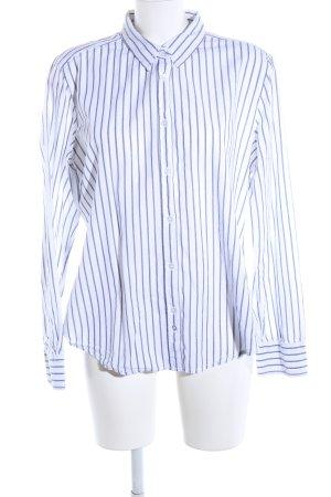 Marc O'Polo Camicia a maniche lunghe bianco-blu motivo a righe