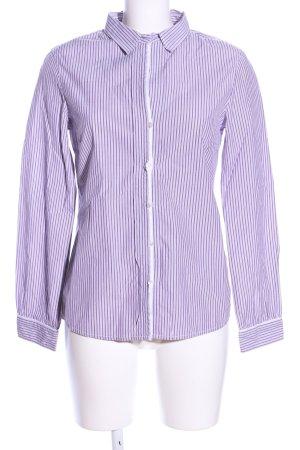 Marc O'Polo Langarmhemd weiß-lila Streifenmuster Business-Look