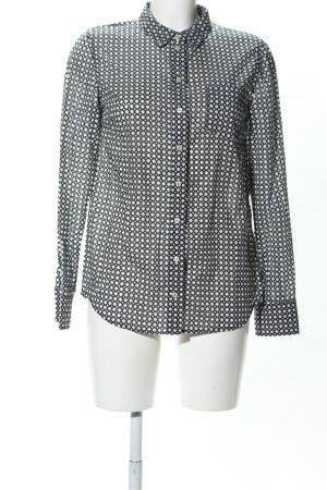 Marc O'Polo Shirt met lange mouwen wit-zwart volledige print